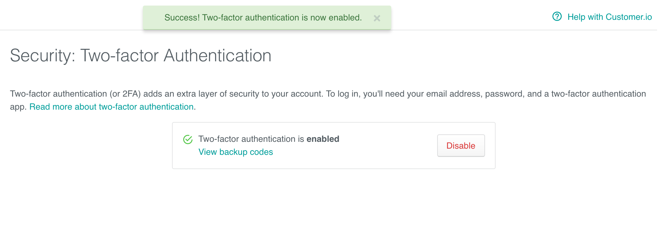 Two-factor authentication: Success!