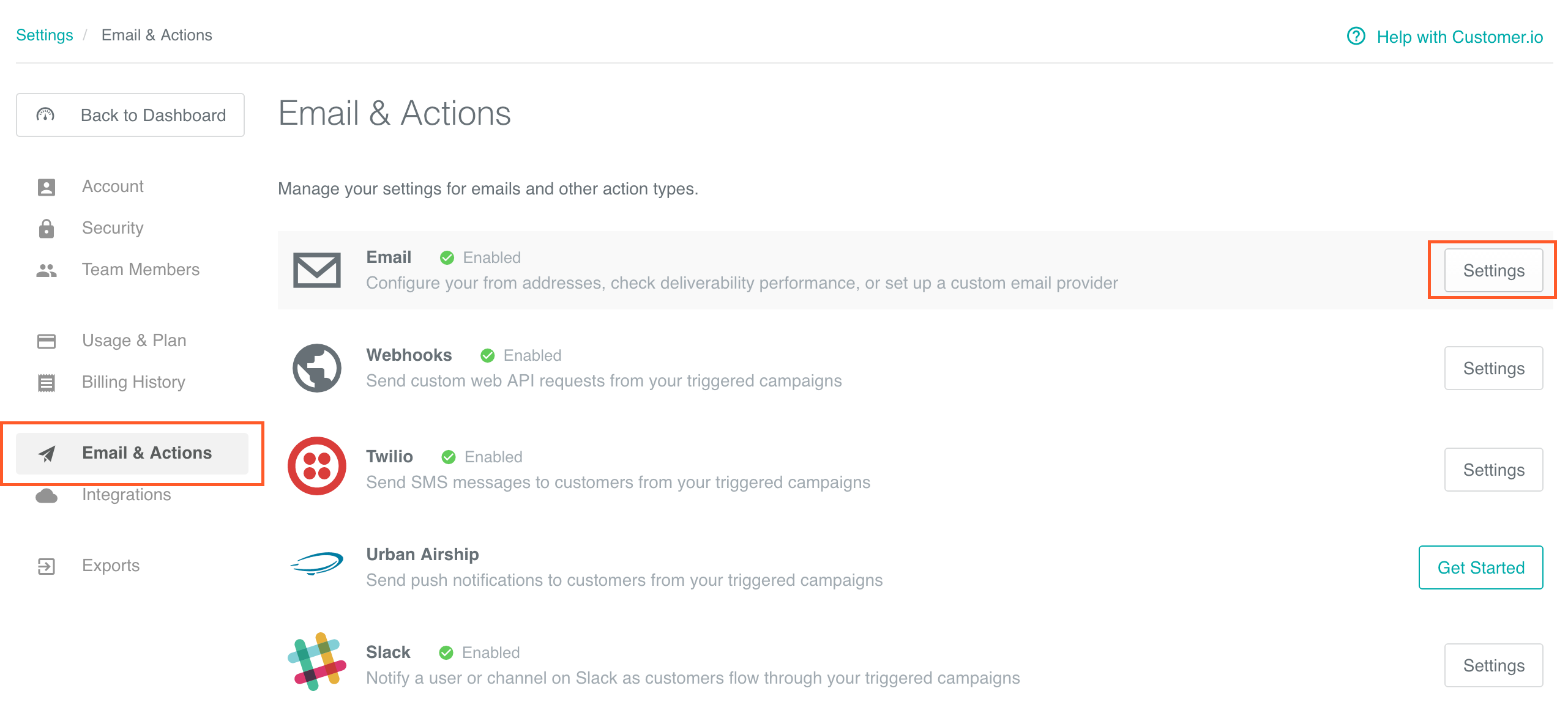 Account - Email Deliverability