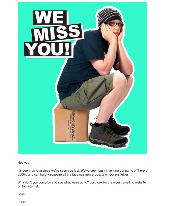 LUSH Winback We Miss You Email