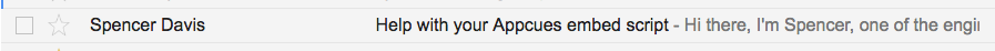 Appcues subject line