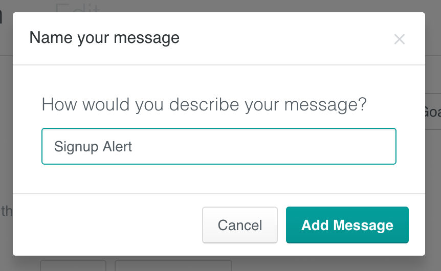 Slack campaign - naming your message