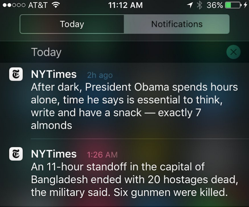 NYT's experiment with non-urgent push notifications