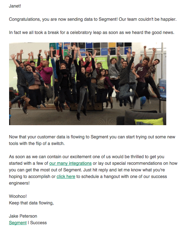 Segment.com gif onboarding email