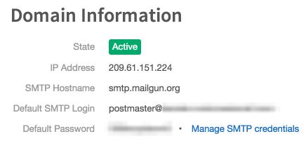 Mailgun config settings