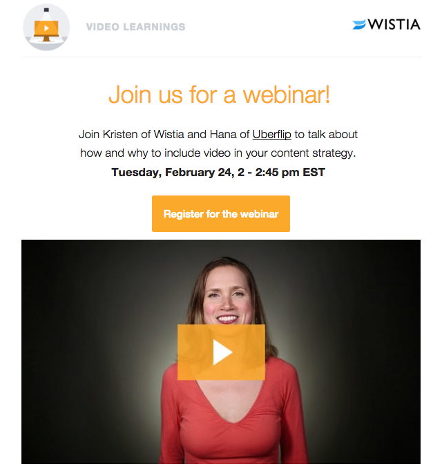 How to create webinar invitations that drive registrations customer wistia webinar invitation email stopboris Choice Image