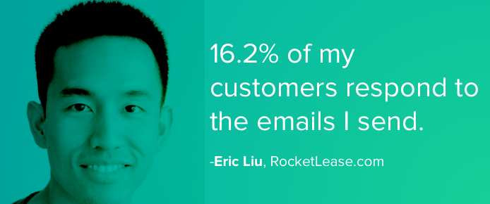 16.2% of my customers respond to the emails I send through Customer.io