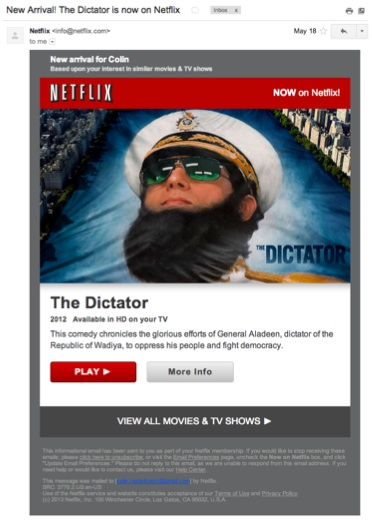 Netflix thinks I like dictators