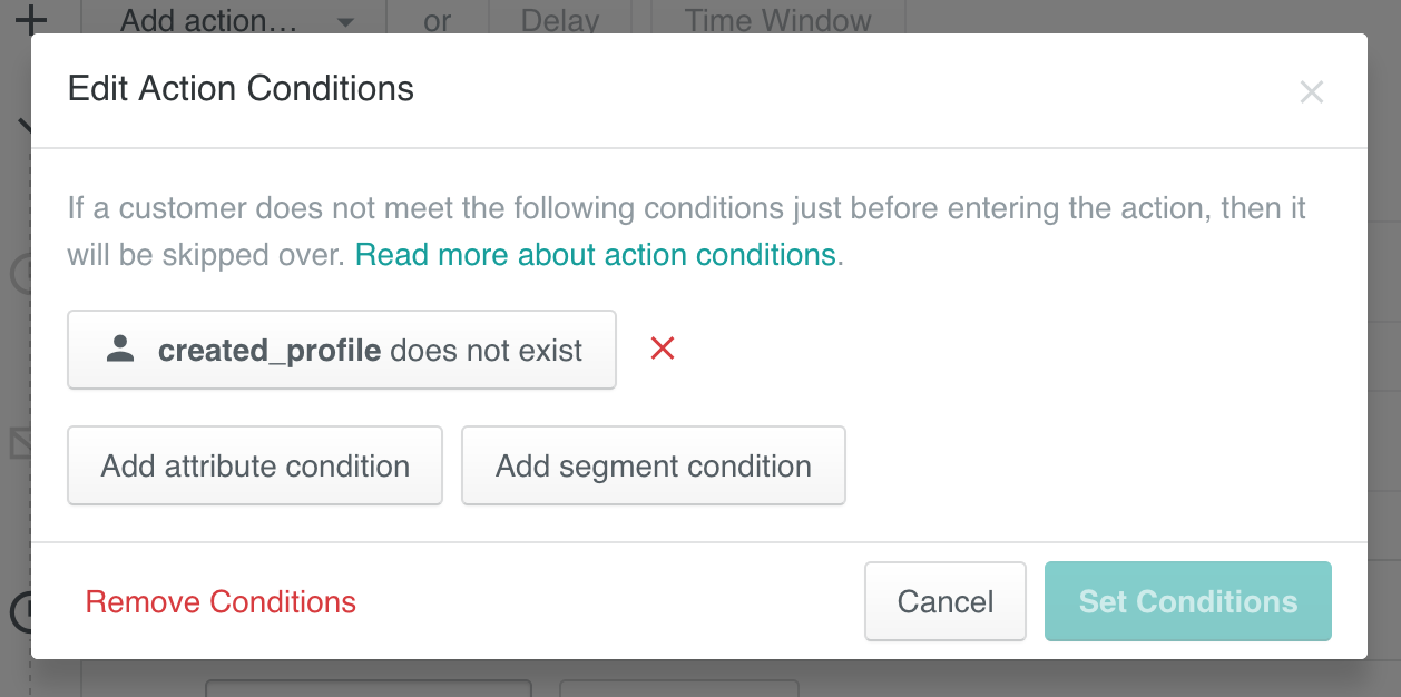Action Conditions: Editing