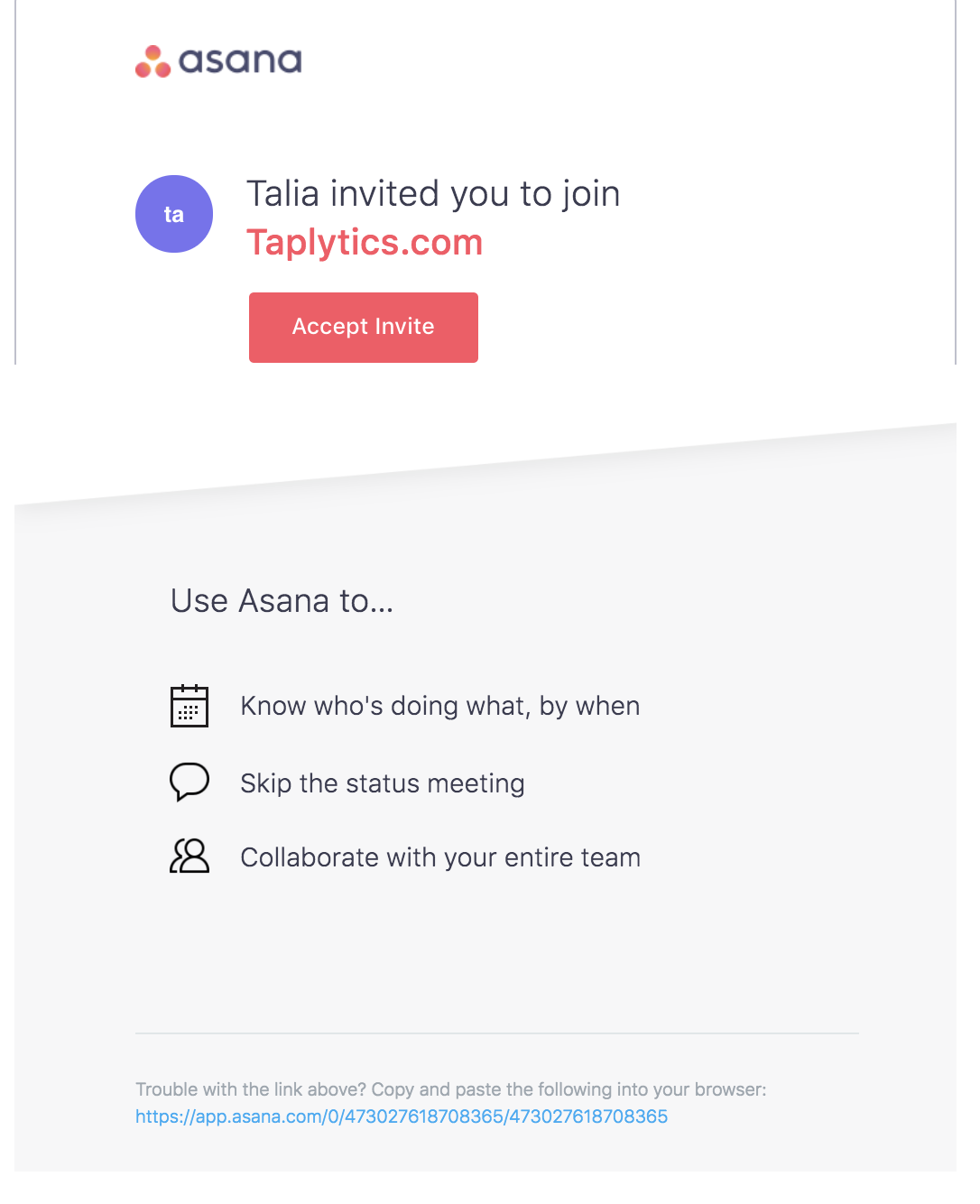 best transactional emails Asana