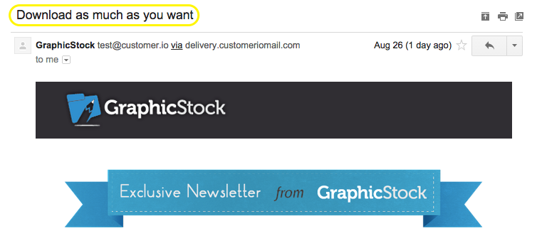 GraphicStock email subject line