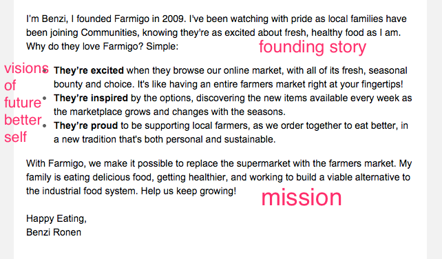 Farmigo welcome email part 2