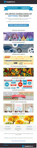 GraphicStock lifecycle email