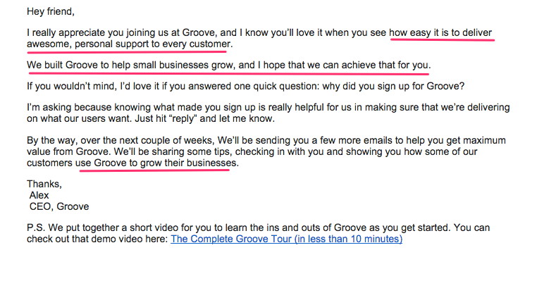 Groove's new purpose-driven welcome