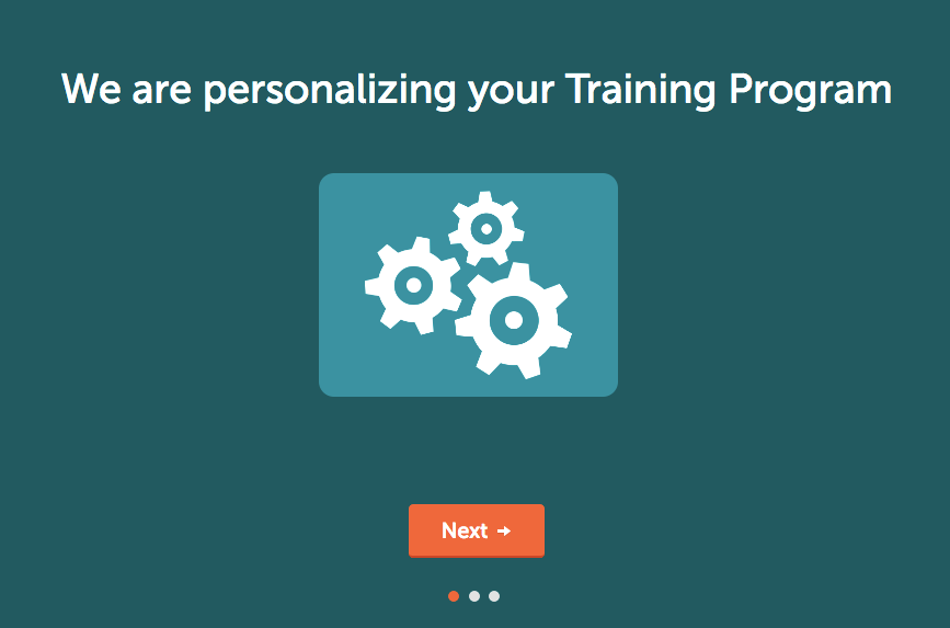 "Lumosity ""We are personalizing your training program."""