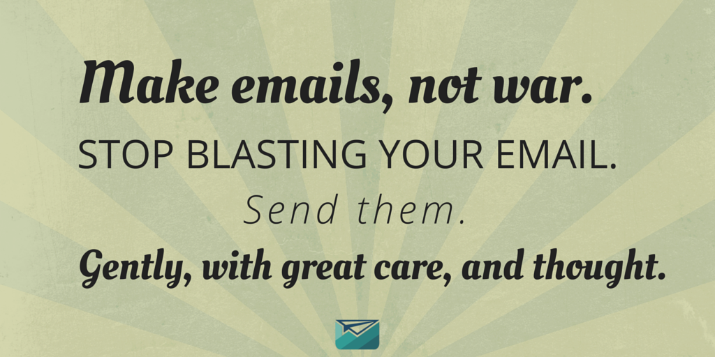 Make email, not war graphic