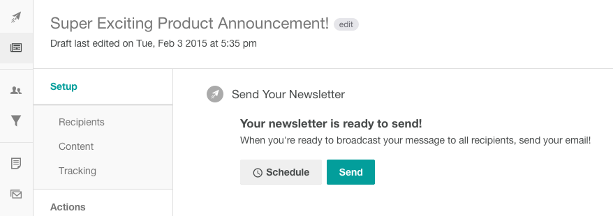 Setting up newsletter scheduling