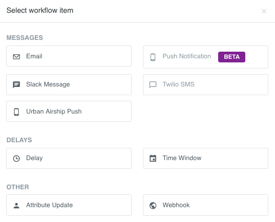 new native Action for your Customer.io campaign workflow