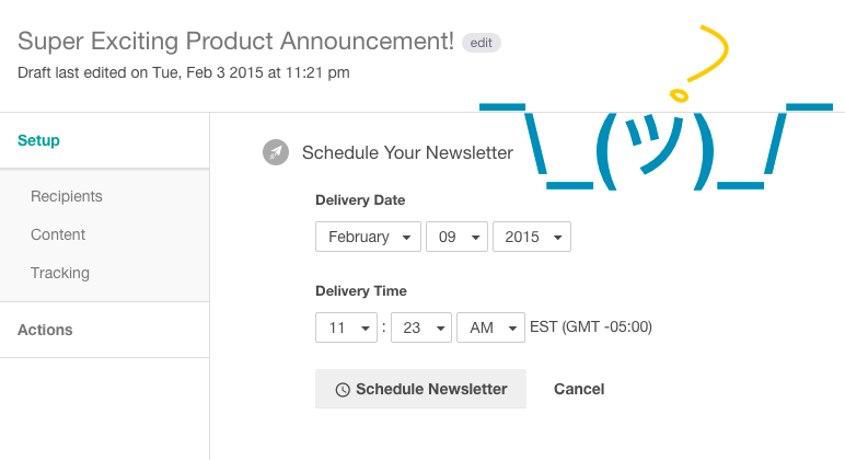 newsletter scheduler