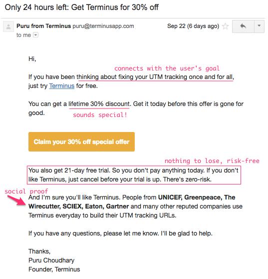 Terminus reactivation email
