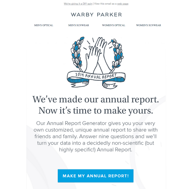 Warby Parker enrichment example