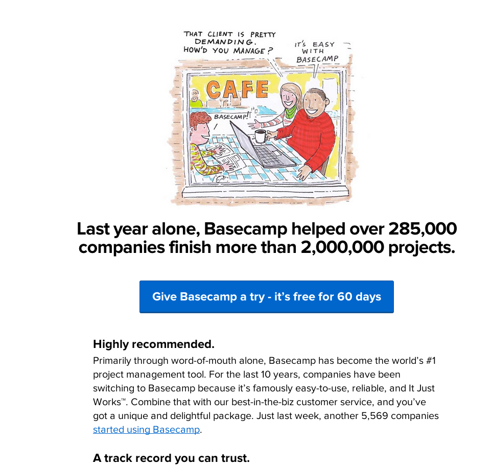 Basecamp Social Proof