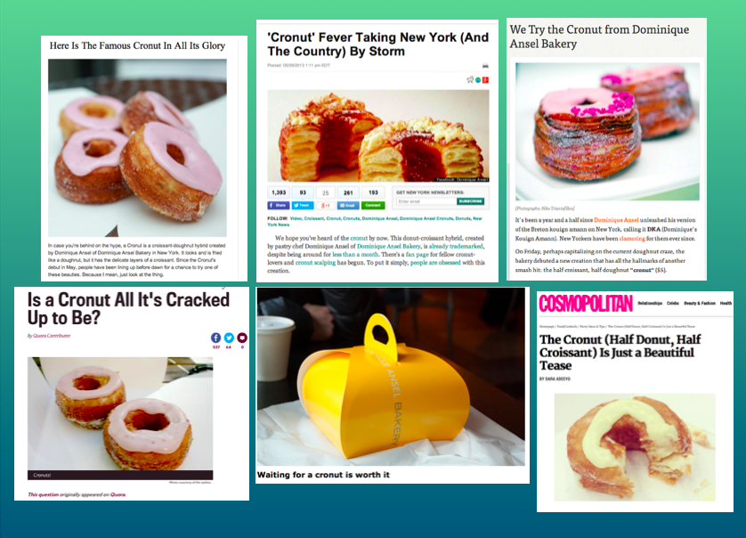 Cronut publications
