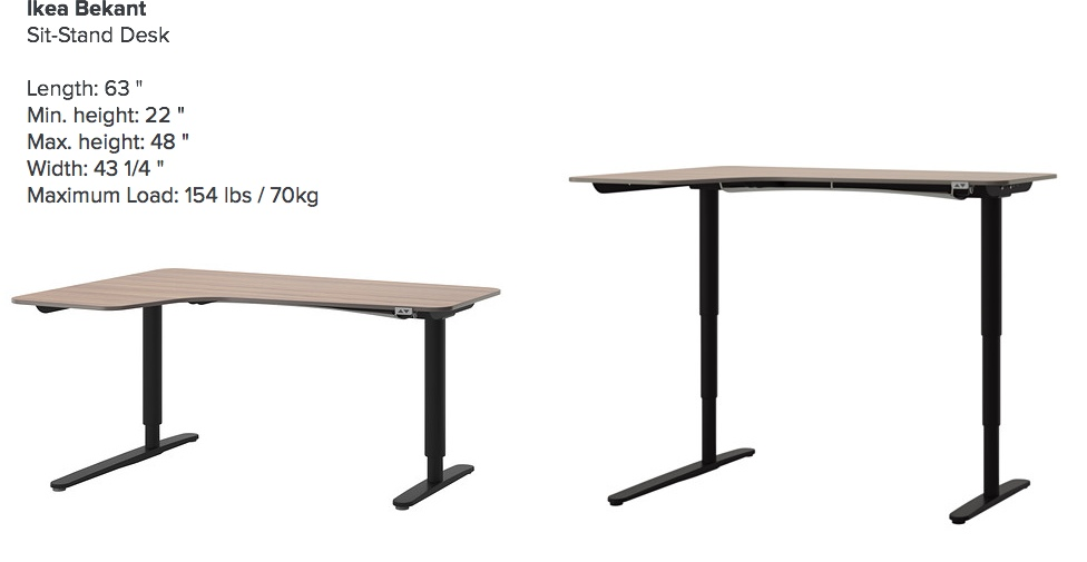 Ikea bekant sit stand