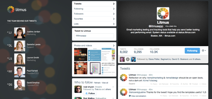 Love love love litmus' twitter background
