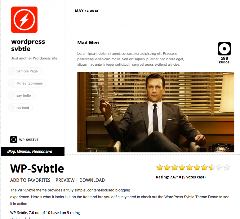 Wordpress Svbtle Theme