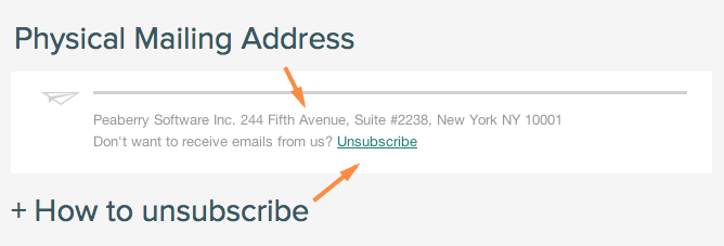 when is it ok to send an email without an unsubscribe link