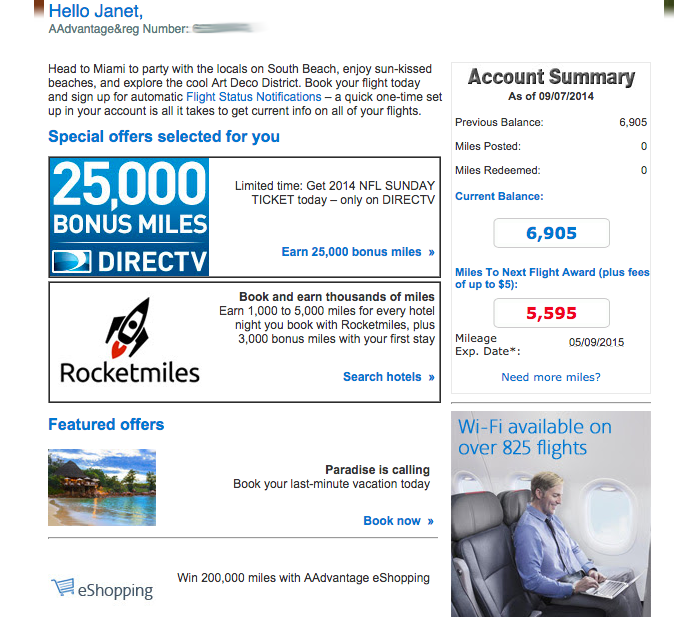 American Airlines - Overwhelming email!