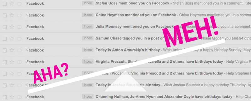 Facebook email notifications
