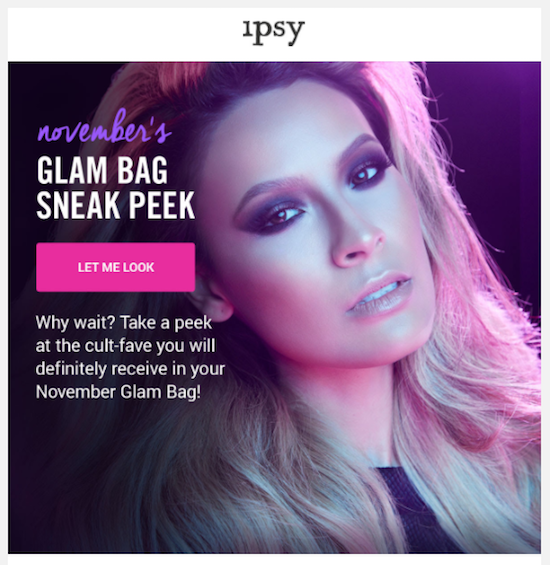 Ipsy reminder email