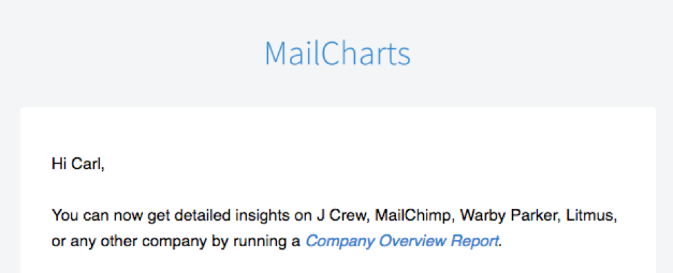 MailCharts email