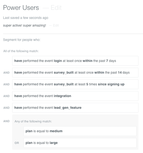 power user sample segment