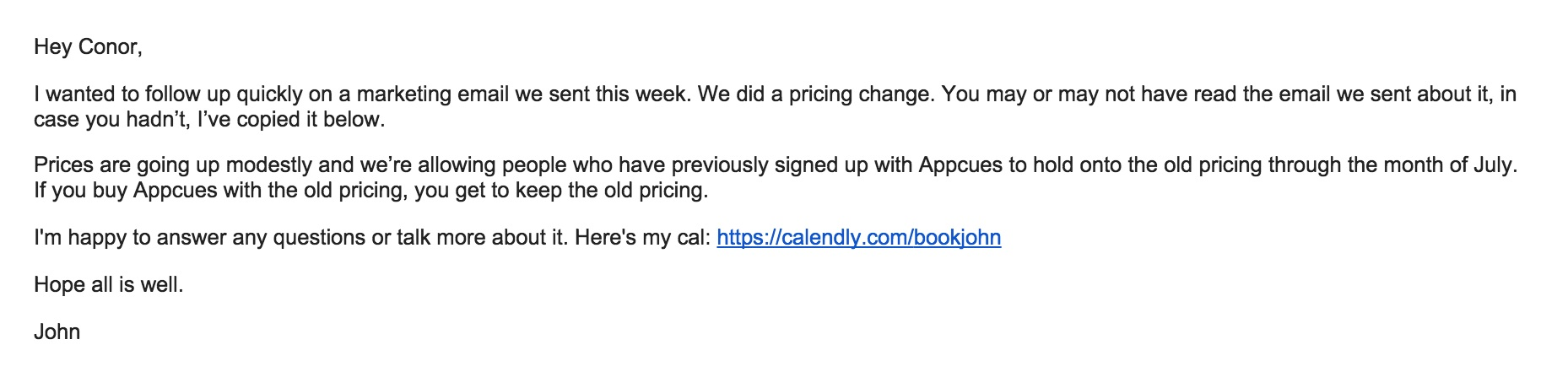 How To Email Your Customers About A Price Increase And Spur Sales