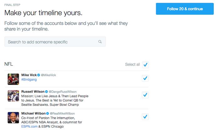 Twitter blank slate solution