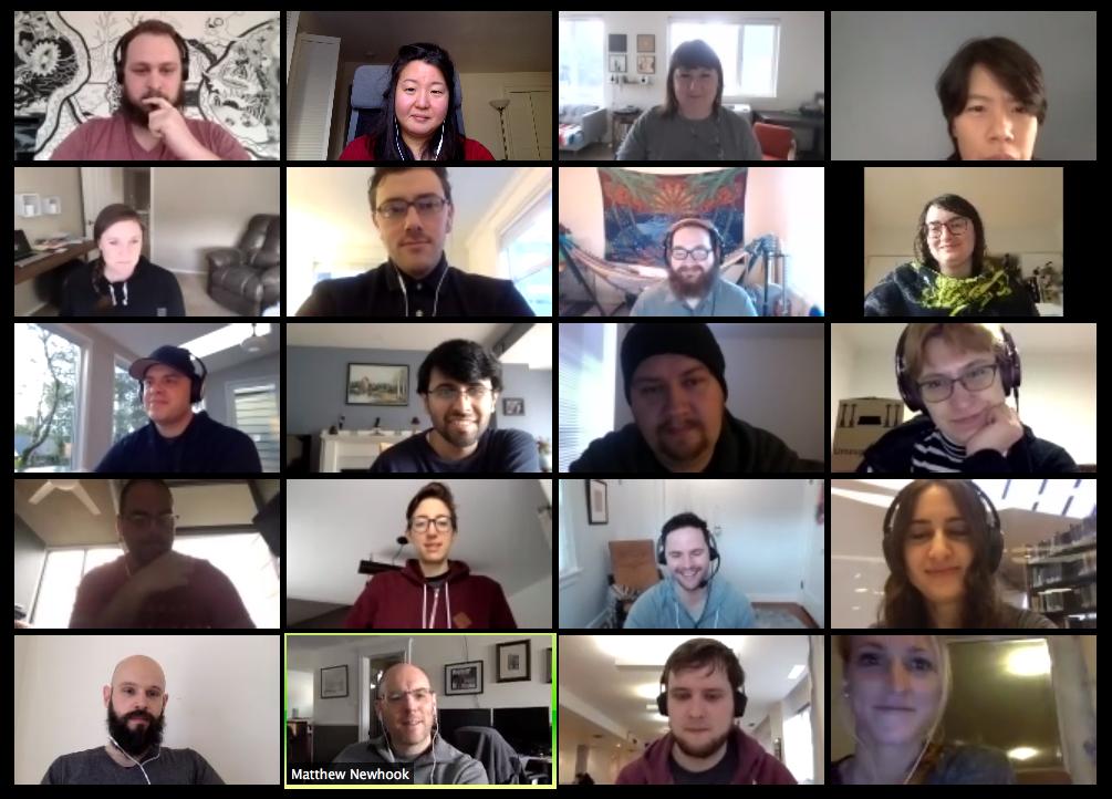Company meetings via Zoom