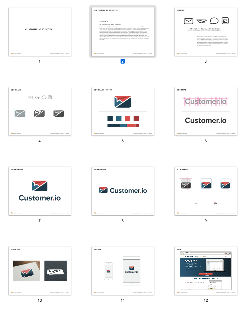 the story of customer.io's logo | customer.io, Powerpoint templates